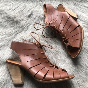 New Paul Green Cosmo brown sandals 6 8.5